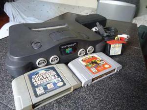 Nintendo 64 (consola Original Mas Accesorios Y Juegos).