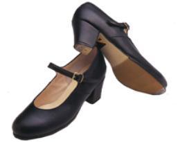 zapatos de flamenco negros