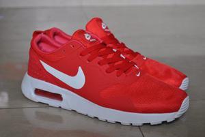 Kp3 Zapatos Nike Air Max Tavas Rojos Para Caballeros