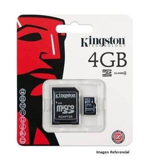 Memoria Micro Sd 4gb Kingston Con Adaptador Tt