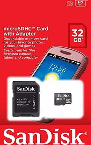 Memoria Micro Sd Sandisk 32gb Con Adaptador Clase 4