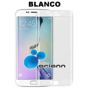 Vidrio Templado Protector 9h Blanco Samsung S6 Edge Plus +