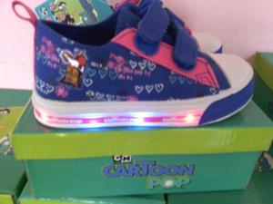 Zapatos Con Luces Niño Y Niña Cartoon Network 22 Al 29