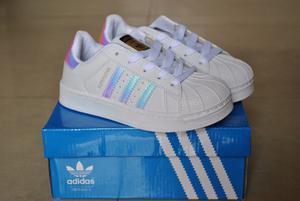 Zapatos adidas Superstar Tornasol Para Niñas