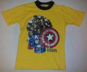 Camisa Franela Para Niño Superheroes Al Mayor 1 Docena