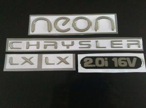 Emblemas Neon Chrysler Lx Y Se Kit Completo