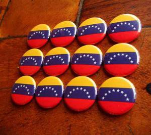 Docena De Chapitas Bandera De Venezuela De 25mm