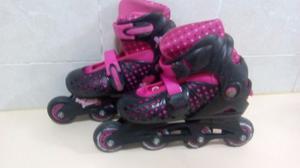 Patines En Línea Barbie Girl Talla Ajustable  (usados)