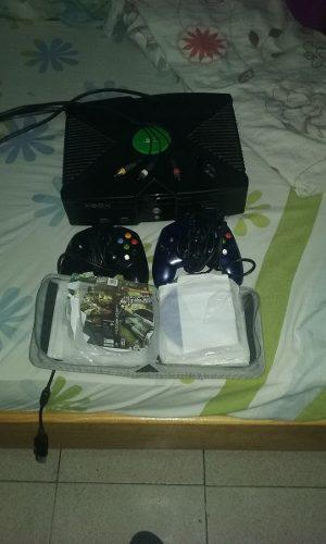 Xbox Clasico Con 2 Controles Y 8 Juegos Y Su Control Remoto