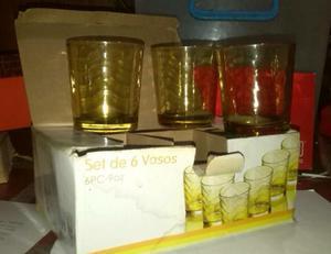 Juego de Vasos de Vidrio 6unds