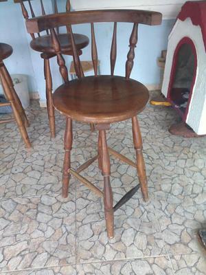 Sillas altas para barra o meson de cocina posot class for Sillas de madera para bar