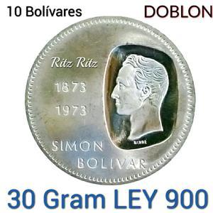 Coleccion Moneda Plata 30 Gram Lei 900