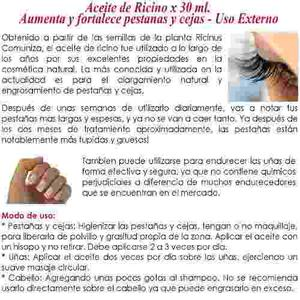 Aceite De Ricino 60 Ml Marca Valian´s