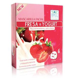 Mascarilla Facial Fresa & Yogurt