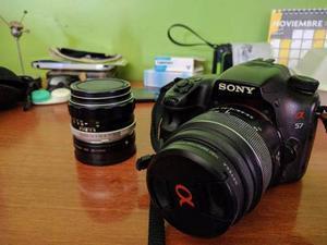Camara Profesional Sony A57 Con 2