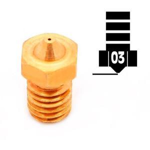 Boquilla (nozzle) De Cobre 0,3mm. Rosca 6mm Impresoras 3d
