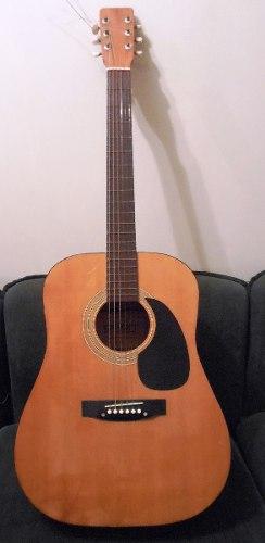 Guitarra Acústica Tipo Folk, Marca Dixon. Producto Usado!