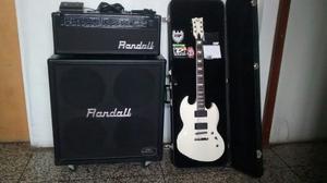 Guitarra Esp Ltd + Ampli Kh 4x12 Combo Solo Cambio X Ec