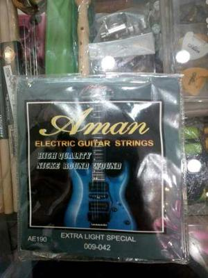 Juego De Cuerdas Para Guitarra Eléctrica Marca Aman