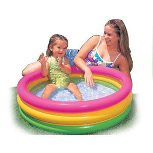Piscina Inflable 86cm 3 Aros Piso Inflable Bebe Niños