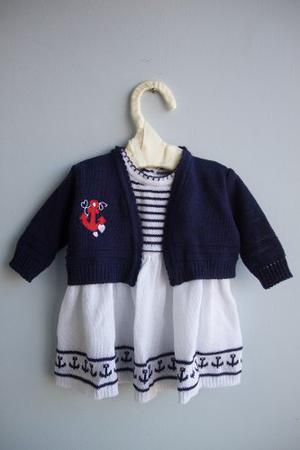 Vestido De Tejido De Punto Para Bebé. Marinerito