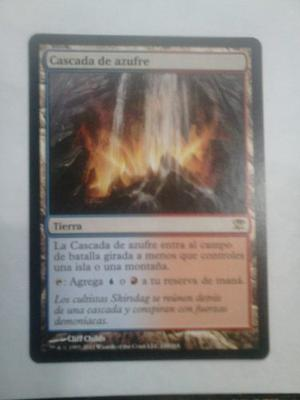 Cartas Magic The Gathering Sulfur Falls/ Cascadas De Azufre
