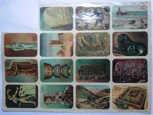 Coleccionable Lámina De Cromos Vintage Arte Antiguo
