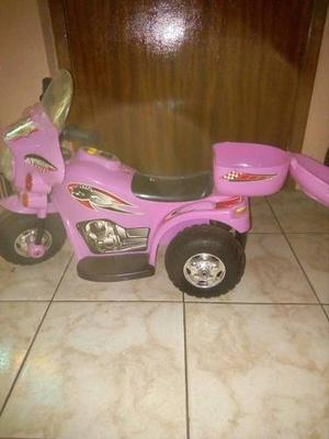 Moto De Batería Color Rosada Para Niñas En Perfecto