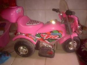 Moto De Bateria De Niña
