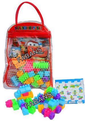 Bolso Legos Maletin Cars Spiderman Minion Princesa Juguete