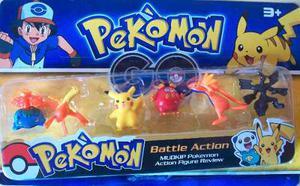 Figuras De Pokemon Pikachu Charizar Set De 6 Figuras