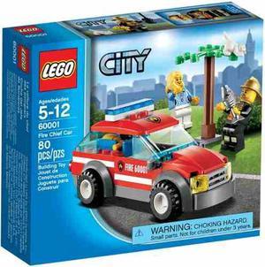 Lego City  Coche Del Jefe De Bomberos 80 Pzs