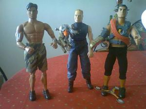Muñecos De Acción. Max Steel. Psyco Y Accion Man