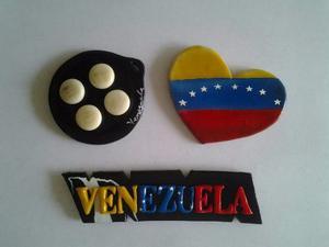 Recuerdos De Venezuela. Imanes De Nevera En Masa Flexible