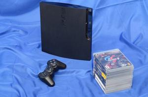 Playstation 3 Con 1 Control Y 10 Juegos
