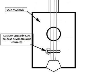 Micrófono Contacto (chapa) Para Instrumentos De Cuerda