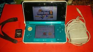 Nintendo 3ds Azul Con New Super Mario Bros 2