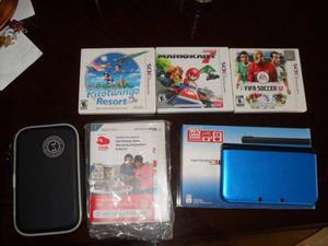 Nintendo 3ds Xl + 3 Juegos Originales Con Caja Y Manual