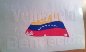 Stiker Venezuela (En Vinil De Corte) Brillante