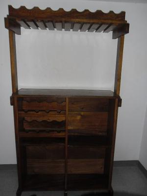 Mueble Bar De Madera Con Licorera Y Copero