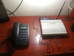 Teléfono Alambrico + Base Telef Inalambrica Lin Activa