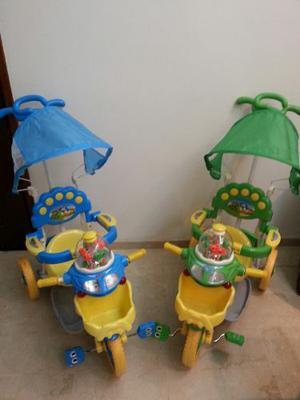 Triciclo Tipo Coche De Bebe Prende Luces Y Sonido Nuevos
