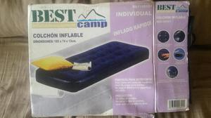 Colchon inflable Individual, Marca BEST CAMP