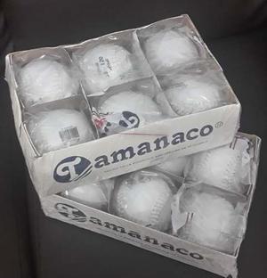 Pelotas De Softbol Tamanaco Sb-120 (por Cajas) Letras Negras
