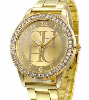 Reloj Ch Geneva De Pulsera En Dorado