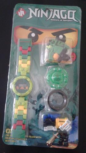 Reloj De Legos Para Niños De Super Heroes Y Ninja Go