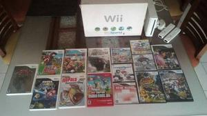 Consola De Nintendo Wii + Juegos Originales Y Copias