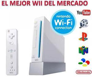 Consola Nintendo Wii + Control Rojo + 9 Juegos Originales