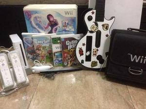 Nintendo Wii Con Juegos Y Accesorios