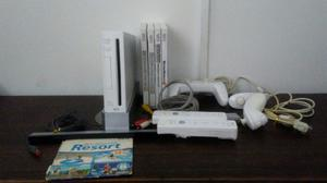 Nintendo Wii Consola+5 Juegos Originales + 5 Controles